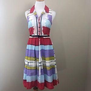 Anthropologie Floreat Sleeveless Abstract Dress